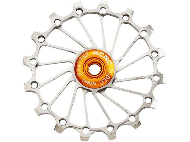 KCNC Jockey Wheel Titan 16 Dents narrow/wide Roulement entièrement en céramique, silver